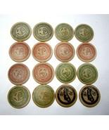 Lot of 16 Vintage 1970s Calif Numismatic Association NASC & CSNA Wooden ... - $11.75