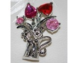 Pink crystal flower bouquet pin thumb155 crop