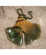 Handcrafted    GINKGO Pendant - $9.95