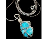 Wire wrapped natural turquoise silver24 close thumb155 crop