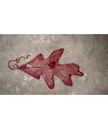 Handcrafted Ceramic Oak Leaf Pendant Pin Handcr... - $12.50