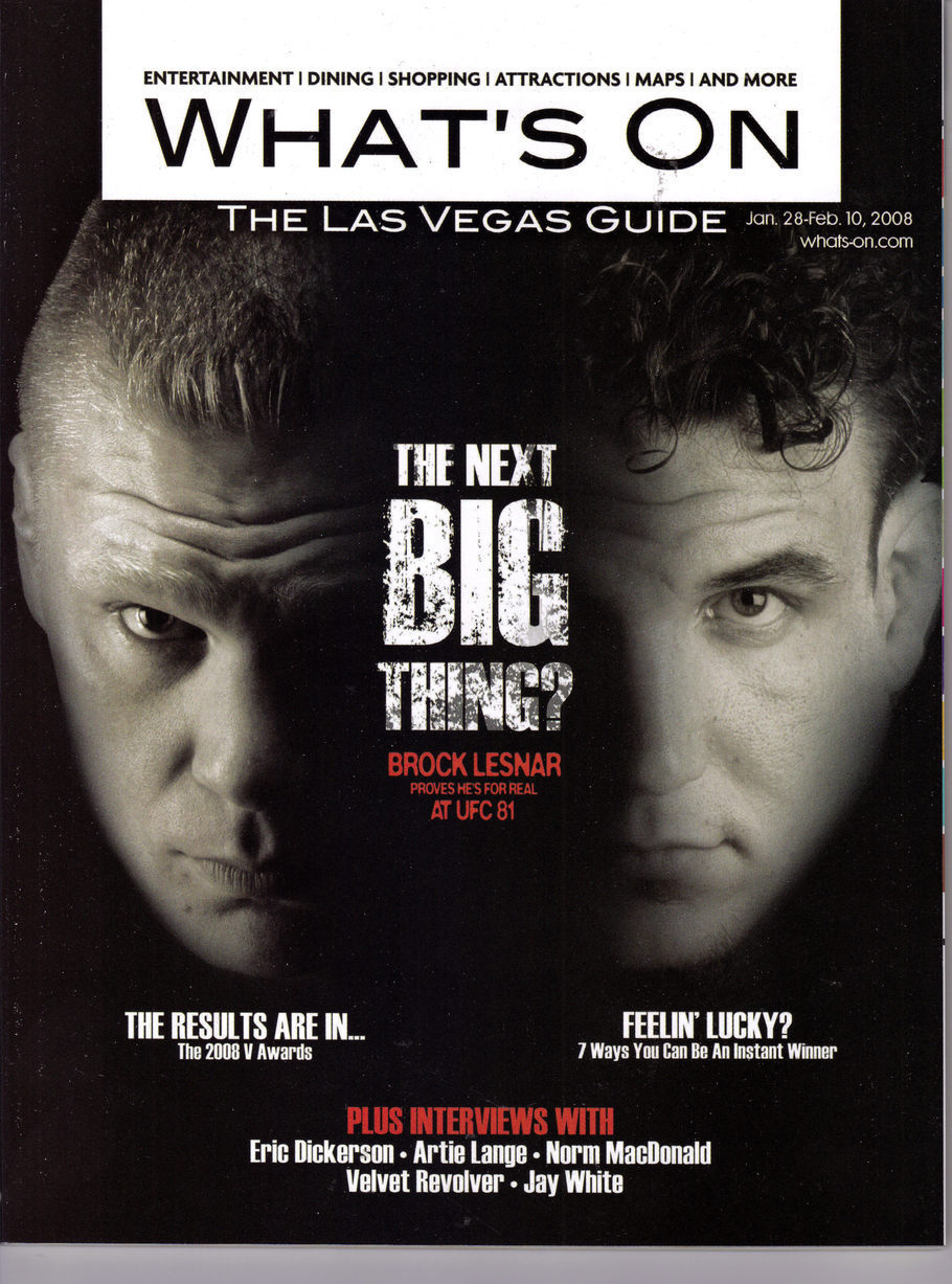 BROCK LESNAR AT UFC 81 - WHATS ON Mag Jan 2008