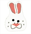 """Large Bunny 1227L handmade clay button .75"""" JABC Just Another Button Co"""