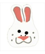 "Large Bunny 1227L handmade clay button .75"" JABC Just Another Button Co - $3.00"