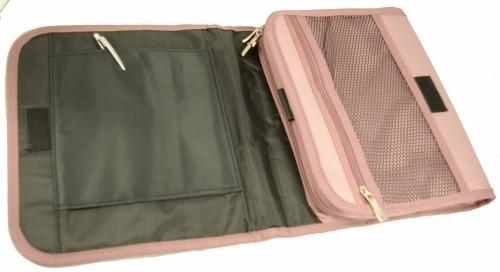 Dusty Rose Tri-fold Organizer Bible Cover - Size Large