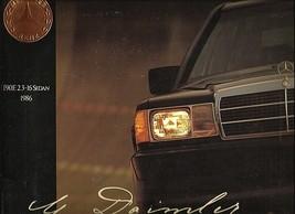 1986 Mercedes-Benz 190E 2.3-16 sales brochure catalog US 86  - $12.00