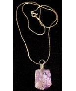 Amethyst Wire Wrapped Rough Cut Chunk Necklace - $14.95