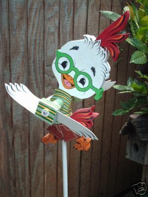Whirligig  Little Chicken Whirligigs,Wood, Handpainted & Crafted,windspinner,