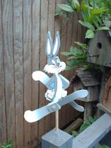 Whirligig-whirligigs,Wind Mobile Crazy Rabbit  Handcrafted, handpainted,... - $58.00