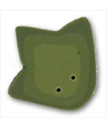"Large Frog Geet 1230L handmade clay button .75""... - $1.60"