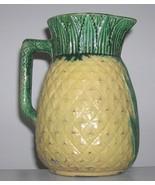 Antique Vintage Majolica Pineapple Pitcher Mid 1800s Majolica Art Potter... - $240.00