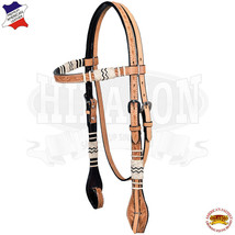 Hilason Western Horse Headstall Bridle American Leather Rawhide Floral U-3-HS - $59.39