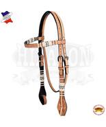 Hilason Western Horse Headstall Bridle American Leather Rawhide Floral U... - $59.39