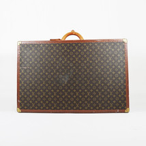 VINTAGE Louis Vuitton Brown Coated Canvas Leather Bisten 80 Hard Sided S... - $4,010.00