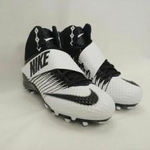 Nike Lunarbeast Pro TD Football Cleats White/Black Mens Size 13 833421-100 - $37.86