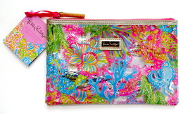 Lilly Pulitzer Agenda Bonus Pack Stickers Pens Zippered Pouch Lover's Co... - $28.00