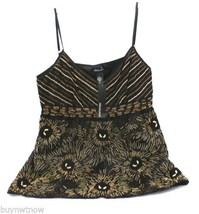 Ideology Beaded Camisole Large Black Pretty NWT $79 Large Evening Occasi... - $39.99