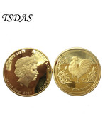Australia 5 Dollars Gold Plated Coin Commemorative the Year of Dog Golde... - $5.50