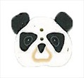 """Small Panda Face 1232s handmade clay button .5"""" JABC Just Another Button Co"""