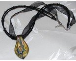 Black glass spoon ribbonbead choker whole thumb155 crop