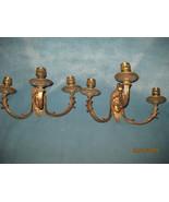 Pr. Victorian 3 arm sconces Bronze - $325.00