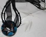 Blacksilverblue glass donut ribbonbead choker whole thumb155 crop