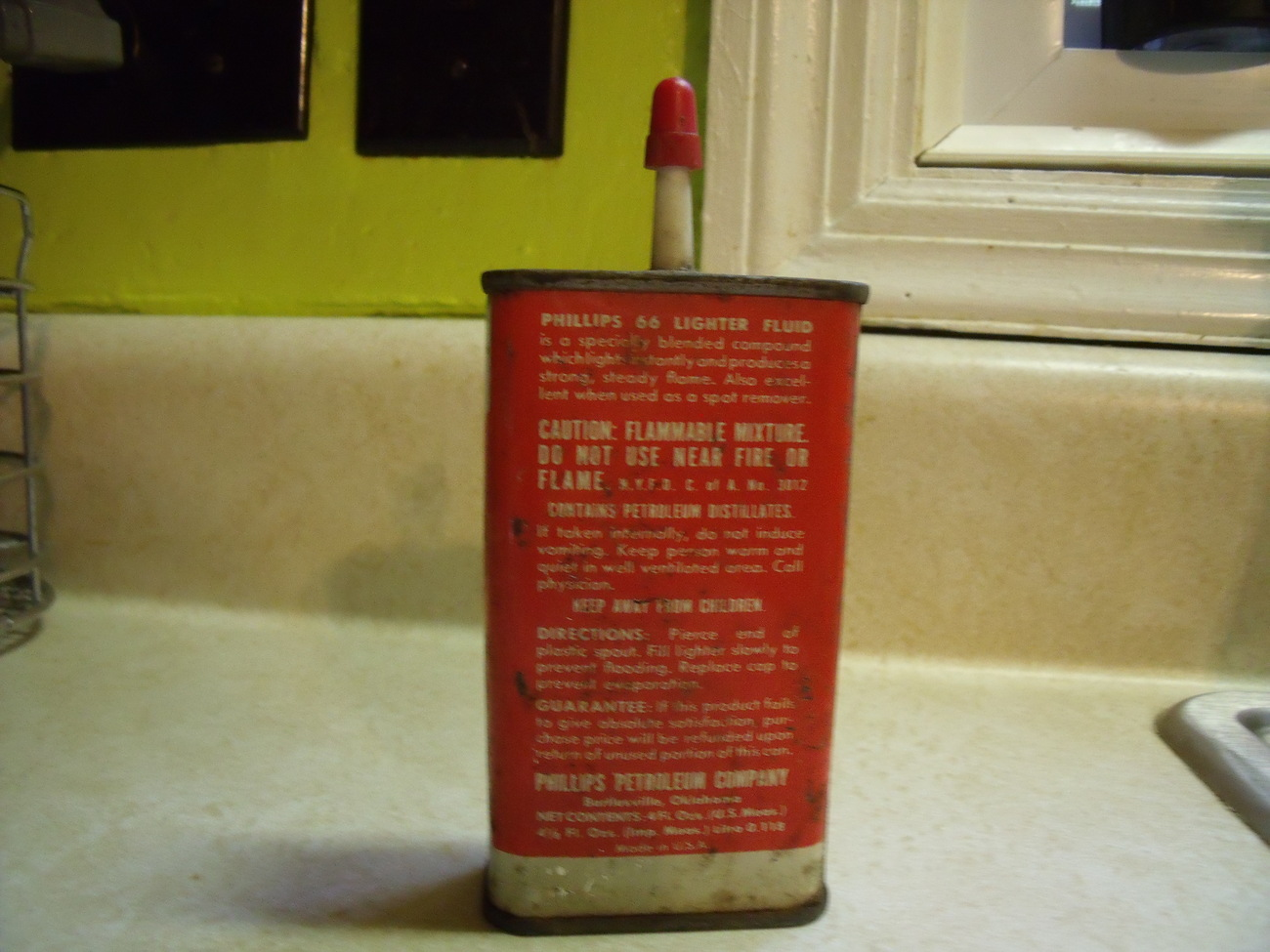 Phillips 66 Lighter Fluid Tin Vintage about 1968