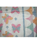1930s Vintage Calico Comforter or Featherbed Cover Butterfliies Quilt Co... - $90.00
