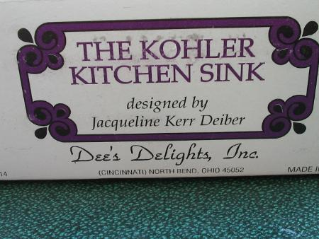 Dee's Delights Dollhouse Kohler Kitchen Sink NIB