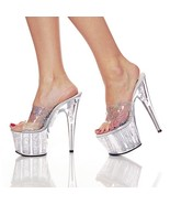 Pleaser Womens SZ 10 Stiletto Shoes Hologram Dr... - $55.00