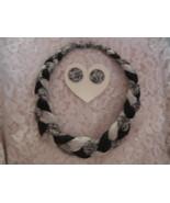 Braided Headband & Matching Pierced Earrings Fa... - $15.00