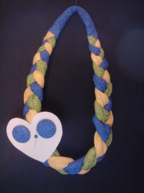 Braided Headband & Matching Pierced Earrings Fabric