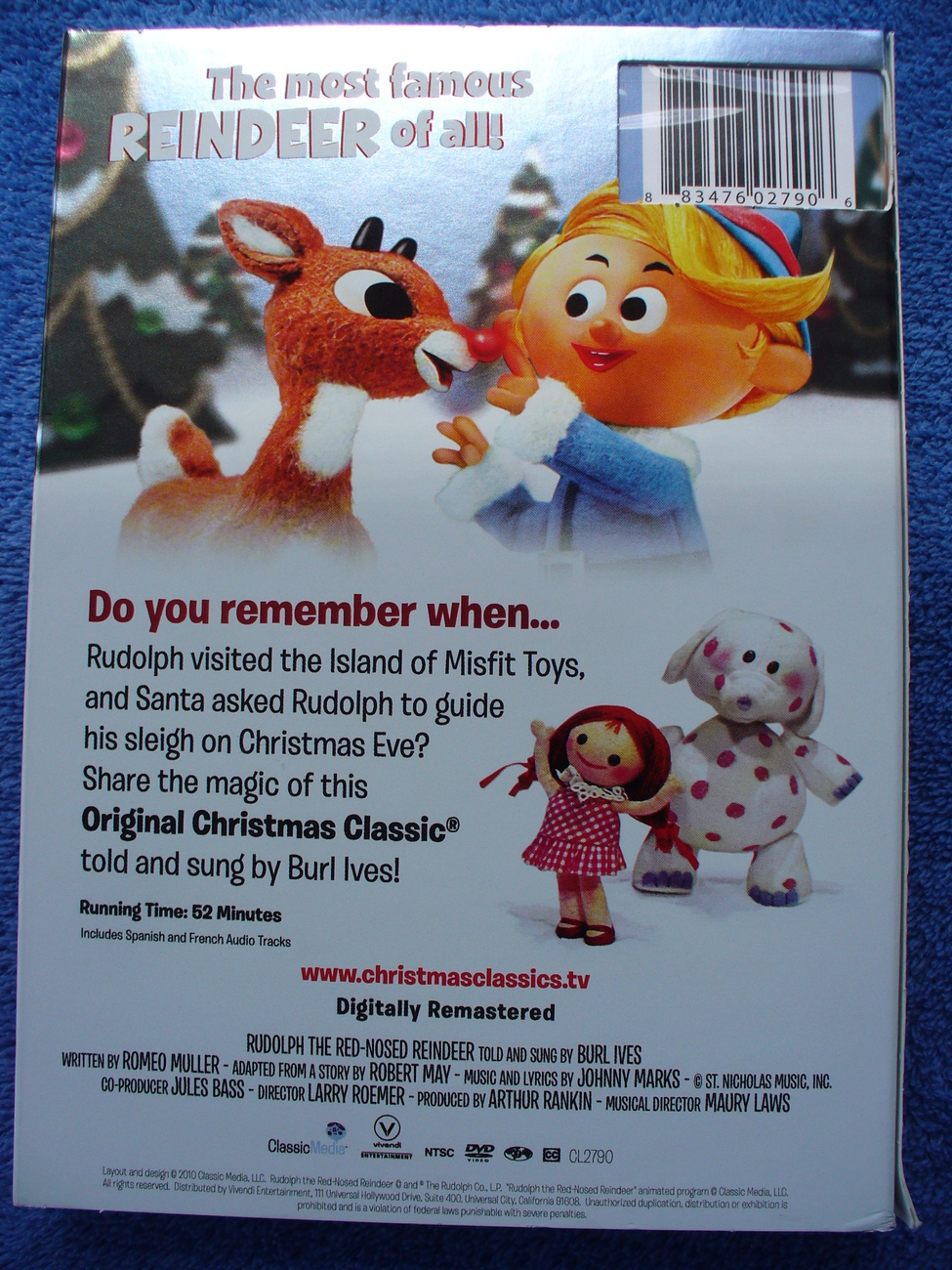 rudolph the red nosed reindeer dvd claymation classic