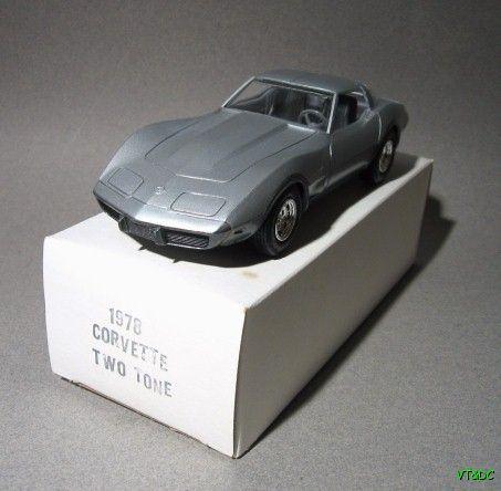 ~ 1978 Corvette Dealer Promo - 25th Anniversary Two Tone Collector Edition