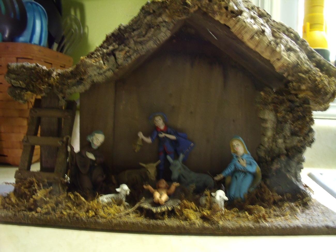 Holiday nativity scene