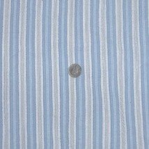 1930s Vintage Cotton Seersucker Fabric Blue and... - $28.00