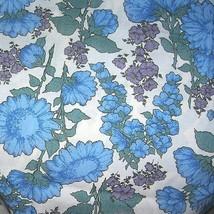 1930s Vintage Cotton Fabric Blue Floral Fabric ... - $35.00