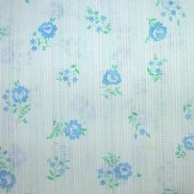Vintage Cotton Shirting Fabric Roses Semi Sheer... - $7.00