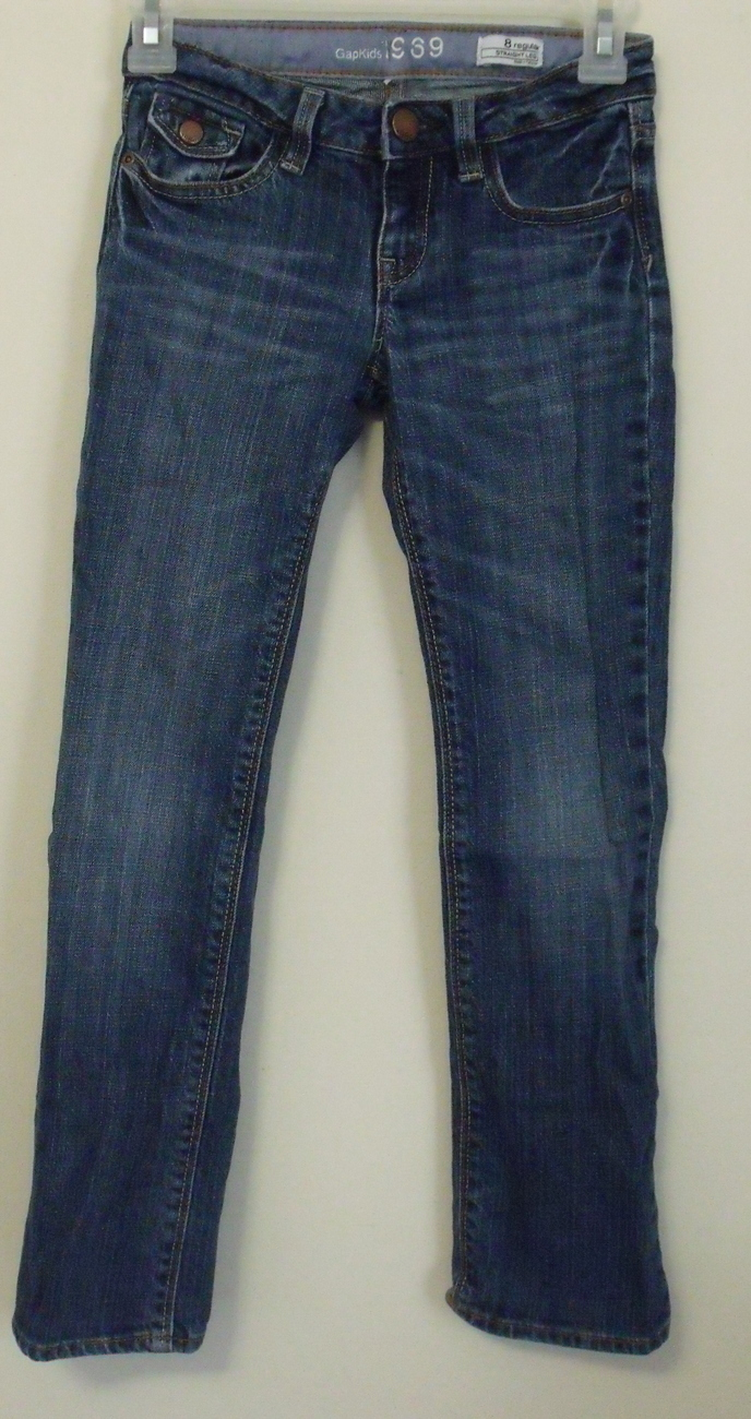 Girls gap straight leg jeans size 8
