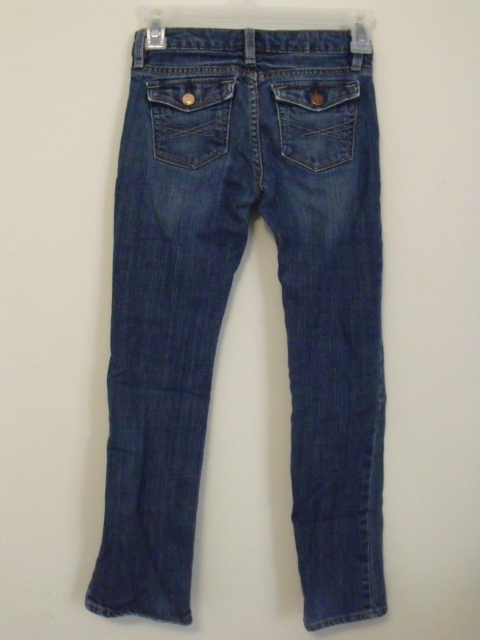 Girls Gap Kids Denim Blue Straight Leg Jeans Size 8
