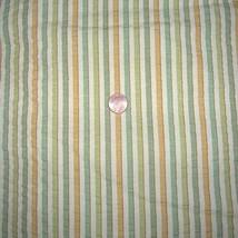 Vintage Striped Seersucker Fabric Drapery Uphol... - $15.00