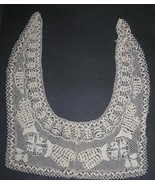 Antique Maltese Lace Collar Handmade Silk Bobbin Lace - $100.00