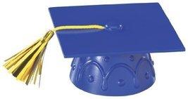 Blue Graduation Cap with Tassel Cake Topper - $4.99