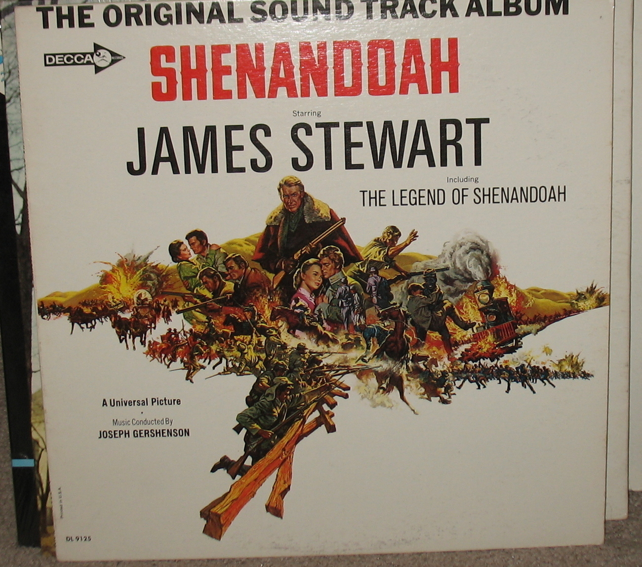 Original Soundtrack Shenandoah LP James Stewart DL 9125
