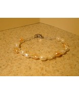 BRACELET PINK AND WHITE FRESHWATER PEARL #868 - $11.99