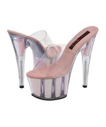 Pleaser Womens Size 9 Stiletto Shoes Baby Pink Glitter Pole Dancer Pumps... - $54.00