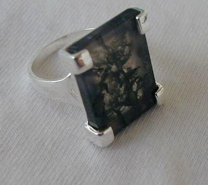 Malaysian agate ring