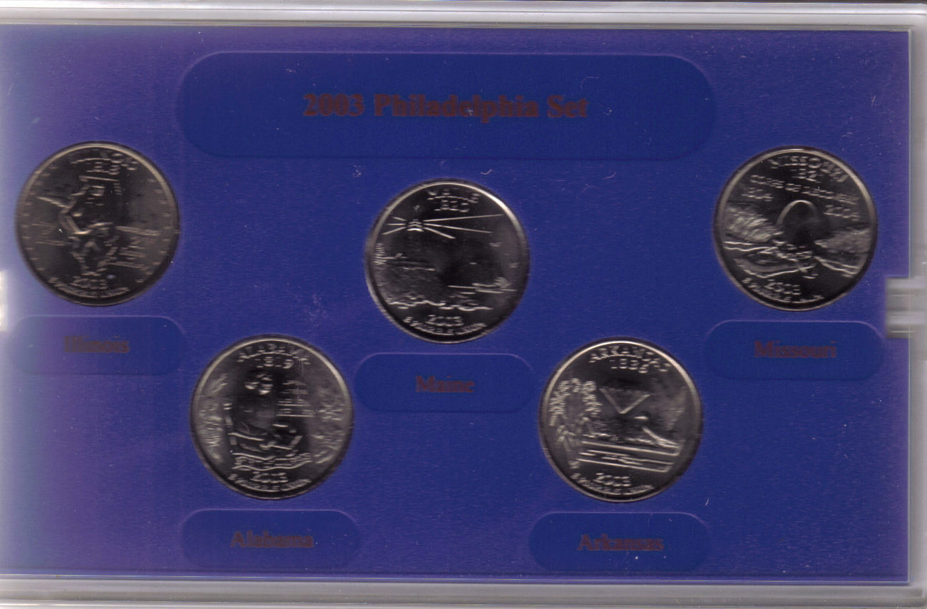 2003 PHILADELPHIA  MINT EDITION STATE QUARTER COLLECTION