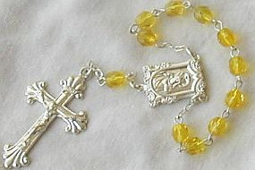 Mini yellow Rosary A