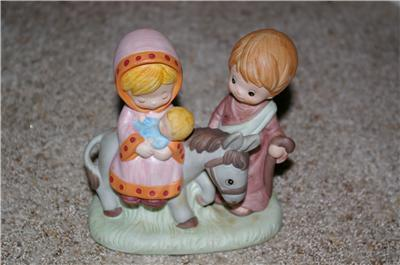 Homco Nativity Mary Joseph Jesus 5406 Home Interiors